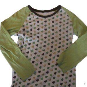 La Senza Green White Shirt Girl Large